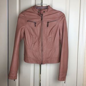 American Rag Moto Non-Leather Pink Jacket size S